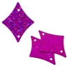 Sequins Hologram 29x36mm With Hole Diamond Fuchsia